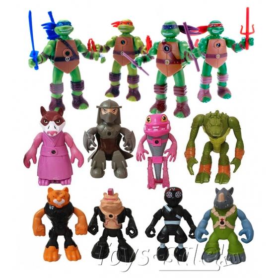 Набор 12 функциональных фигурок Черепашки ниндзя
