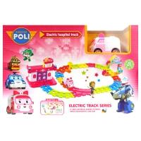 Игровой набор Робокар Поли - Госпиталь: трек с электрической машинкой