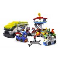 Набор игрушек Щенячий патруль - 9 героев с рюкзаками-трансформерами и большими машинками + Офис + Автовоз