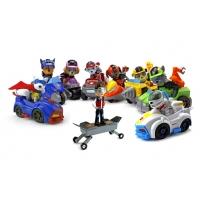 Набор игрушек Щенячий патруль - 9 героев с рюкзаками-трансформерами и большими машинками