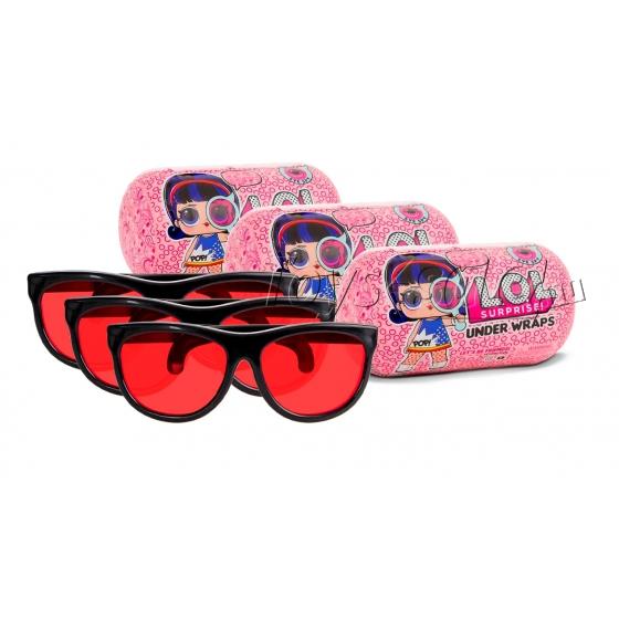 Набор из 3 кукол-сюрпризов LOL в капсуле серия 4 + очки