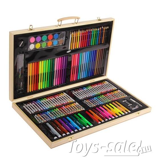 Художественный набор для рисования деревянный 220 предметов