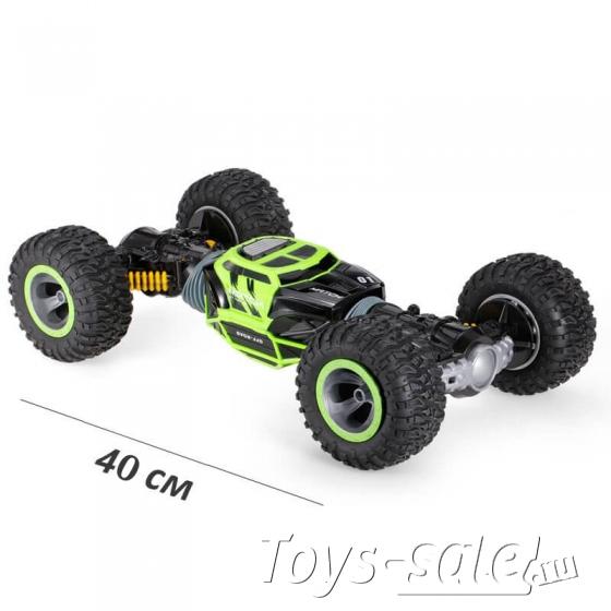 Машинка перевёртыш 41 см зеленая