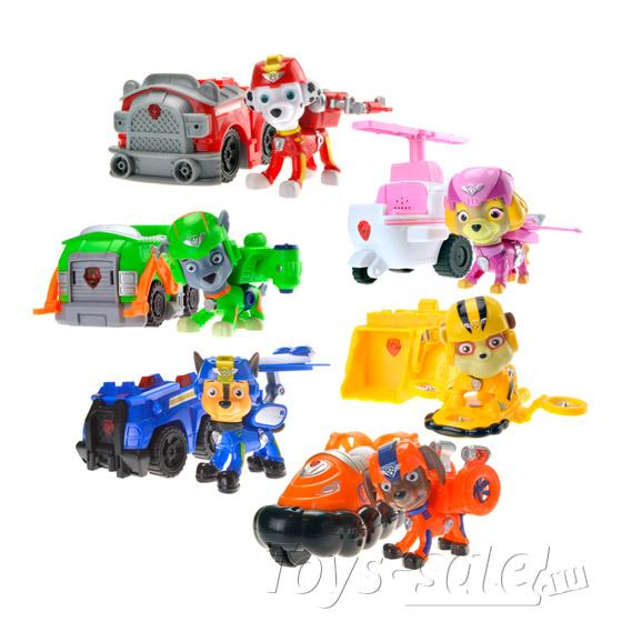 Набор игрушек Щенячий патруль - 7 героев с машинками+ Офис+ Автовоз