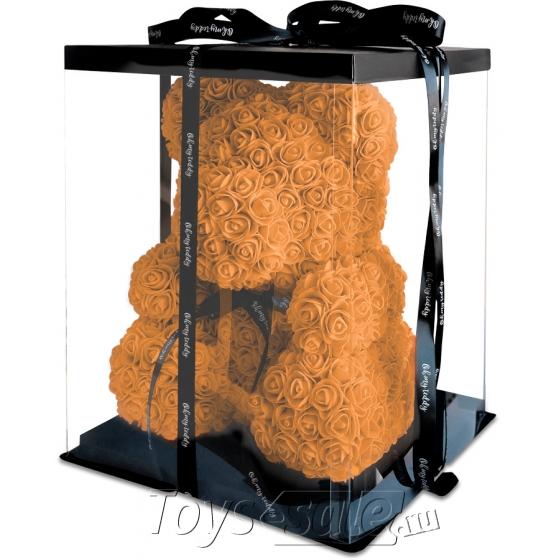 Медведь из Персиковых Роз 40 см