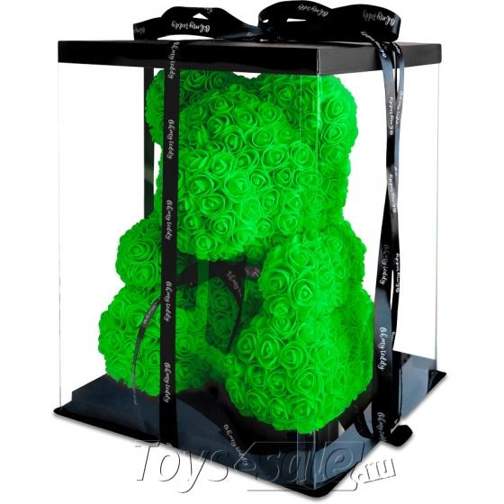 Медведь из Зеленых Роз 40 см