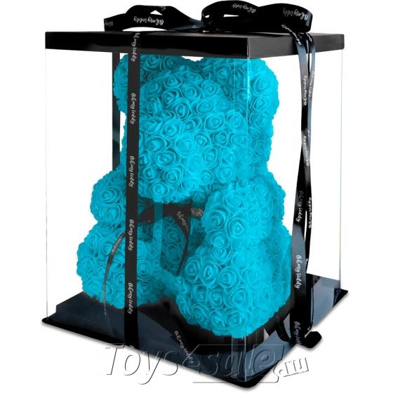 Медведь из Голубых Роз 40 см