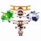 Набор игрушек трансформеров Супер Крылья (Super Wings) - Новые герои 4 шт