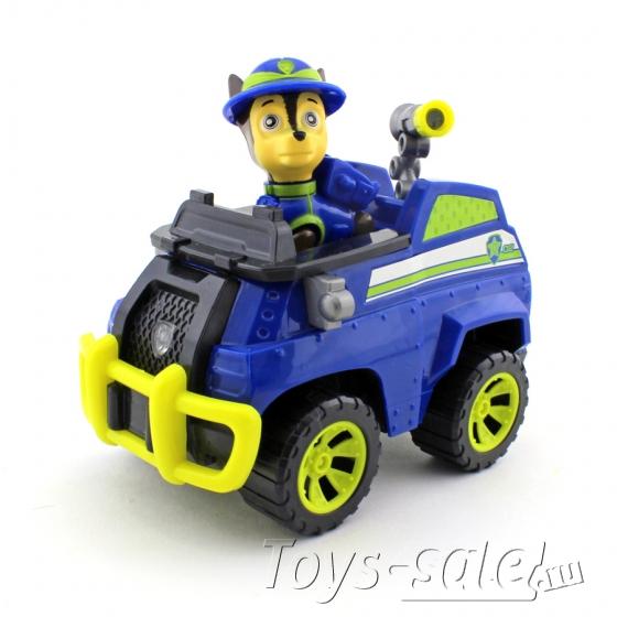 Набор игрушек Щенячий патруль - 7 героев с большими машинками + Автовоз