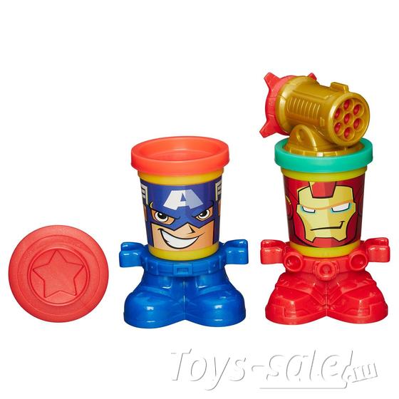 Набор для лепки PLAY-DOH - герои Марвел (Hasbro, B0594H)