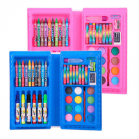 Набор для рисования и творчества 42 предмета розовый