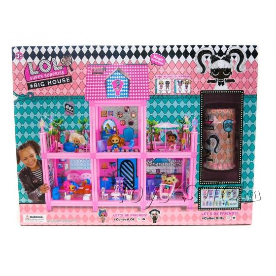 Большой ДОМ для куколок ЛОЛ 84+ Сюрприза (LOL Surprise House) 2 этажа