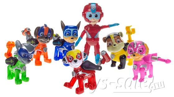 Реактивный командный центр + команда космический Щенячий Патруль 7 героев.