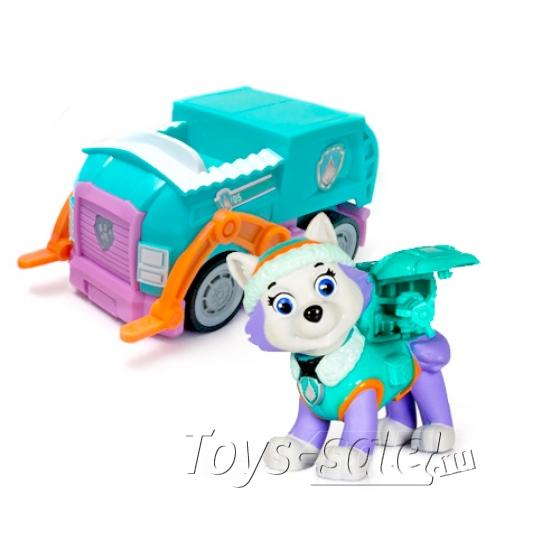 Игрушка Щенячий Патруль - Эверест с рюкзаком трансформером и инерционная машинка