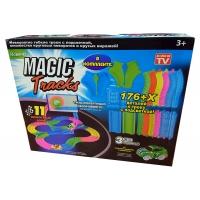 Гоночная трасса Magic Tracks 176 светящаяся - 176 деталей + Мертвая петля
