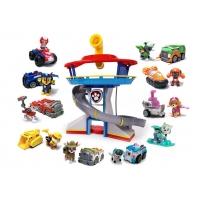 Комплект Щенячий Патруль - Большой офис спасателей + Команда из 10 героев с машинками (Эверест на доске)