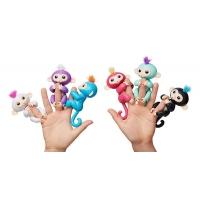 Набор из 6 интерактивных обезьянок Fingerlings Finger Monkey