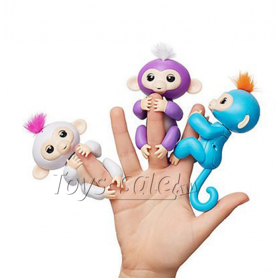 Набор из 3 интерактивных обезьянок Fingerlings Finger Monkey