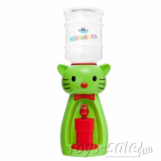 Мини кулер для воды и сока Кот Китти Зеленый