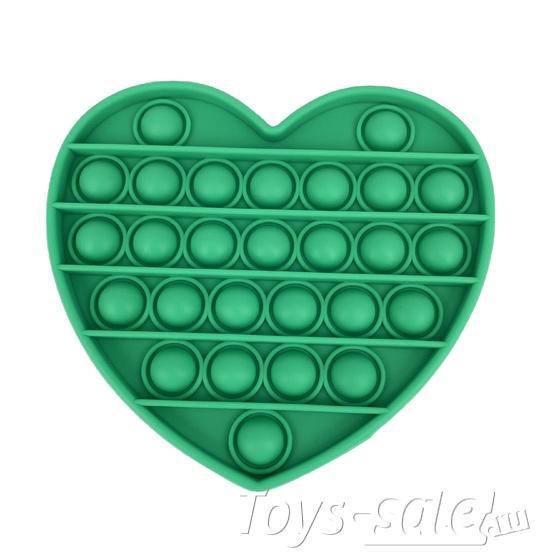Pop it вечная пупырка антистресс сердце зеленое