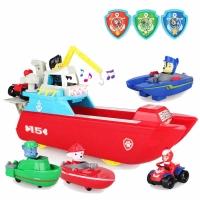 Мини-Корабль (Paw Patrol) + 4 героя с транспортом Щенячий Патруль.