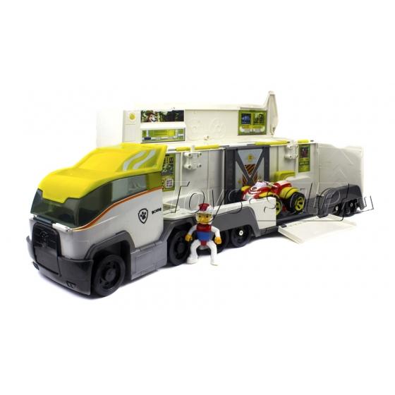 Набор игрушек Щенячий патруль - 6 героев с рюкзаками-трансформерами и большими машинками + Офис + Автовоз