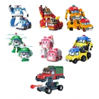 Набор 7 героев трансформеров Робокар Поли