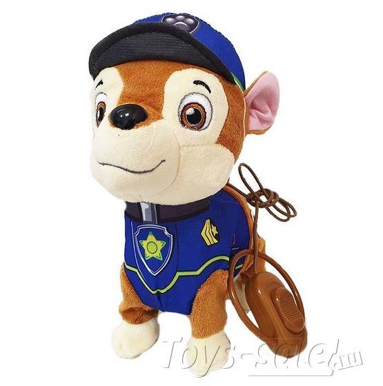 Мягкая игрушка Чейз со звуком и пультом управления (Щенячий патруль)
