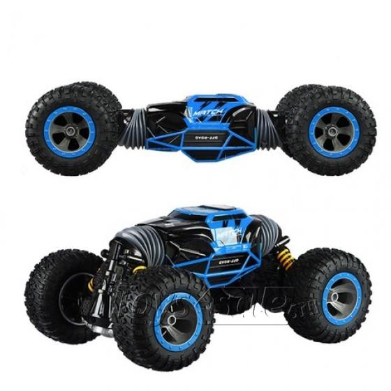 Машинка перевёртыш 49 см синяя