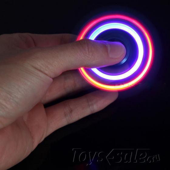 Спиннер Синий (две лопасти) - Подсветка, полупрозрачный
