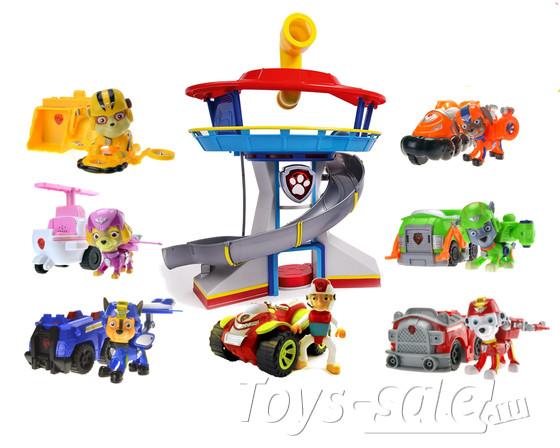 Набор игрушек Щенячий патруль - 7 героев с машинками+ Офис