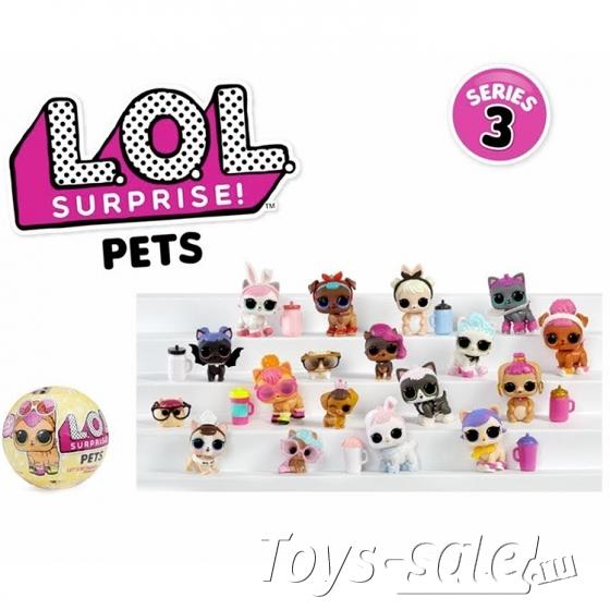 Кукла-сюрприз LOL в шарике серия Pets (питомцы) - набор из 6 шариков