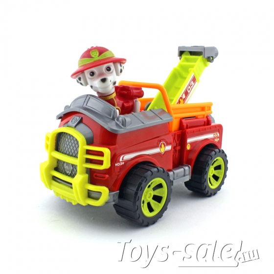 Набор игрушек Щенячий патруль - 8 героев с большими машинками + Автовоз
