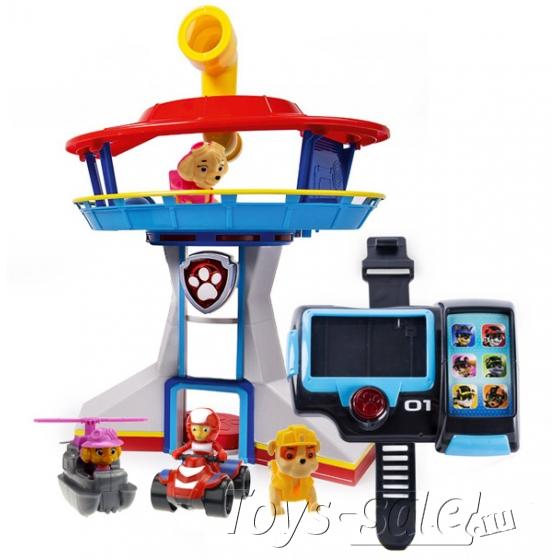 Набор игрушек Щенячий Патруль (Paw Patrol) - Офис спасателей + Наручный компьютер