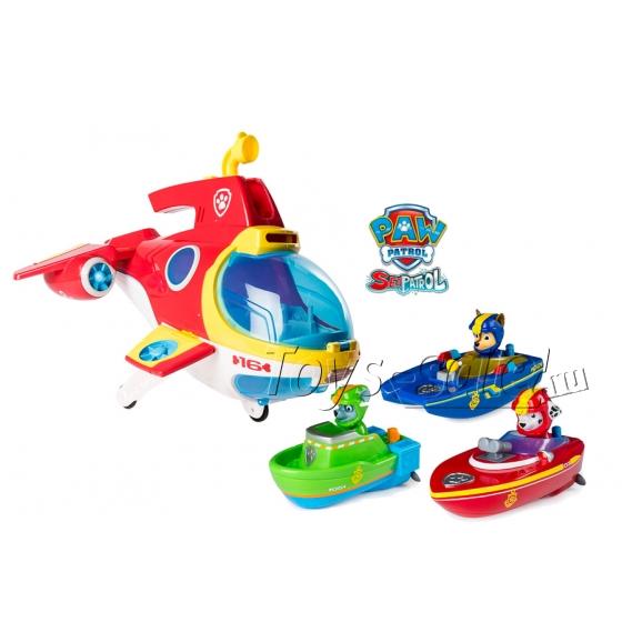 Мини-субмарина Амфибия + 3 героя с лодками (Морской Патруль)