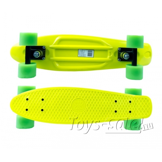 Скейтборд MC Plastic Board small yellow