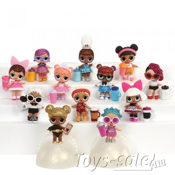Кукла-сюрприз LOL в шарике серия 8 Confetti Pop - набор из 3 шариков