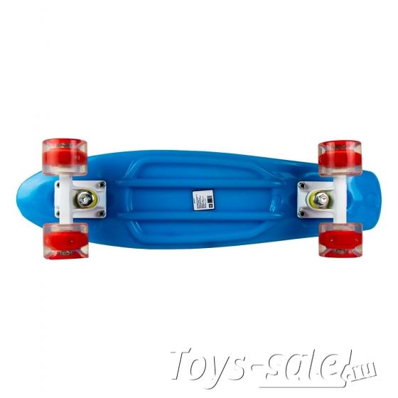 Скейтборд MC Plastic Board GLOSS small blue