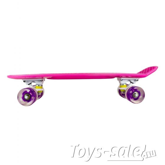 Скейтборд MC Plastic Board GLOSS small pink