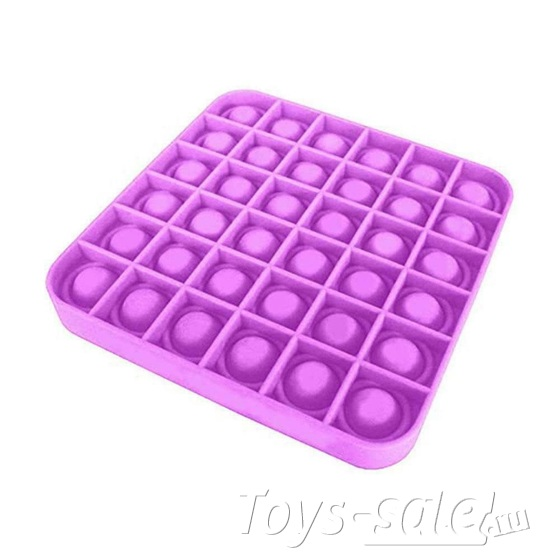 Pop it вечная пупырка антистресс квадрат фиолетовый