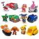 Набор игрушек Щенячий патруль - 6 героев с машинками и рюкзаками трансформерами