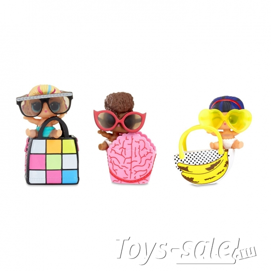 Кукла-сюрприз LOL в шарике серия LIL Eye Spy - набор из 3 шариков