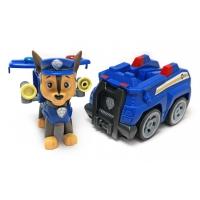 Щенячий патруль (Paw Patrol) - Гонщик с рюкзаком трансформером и Полицейская машинка