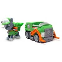 Щенячий патруль (Paw Patrol) - Рокки с рюкзаком трансформером и машинка Мусоровоз
