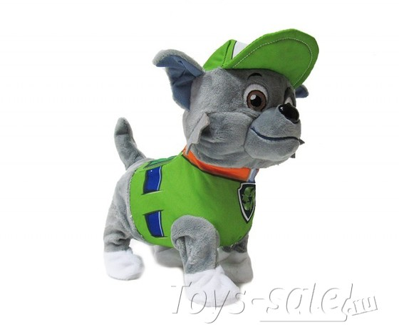 Мягкая игрушка Рокки со звуком и пультом управления (Щенячий патруль)