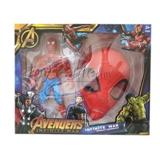 Фигурка Человек Паук и маска (Мстители)