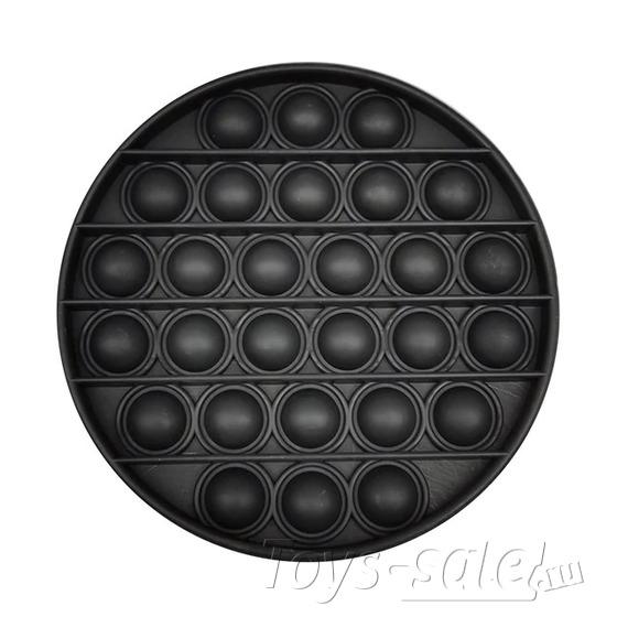 Pop it Black Edition вечная пупырка антистресс круг черный